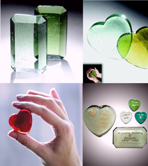 Crystal Cremation Keepsakes