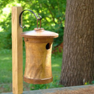 Scattering Urn into Birdhouse
